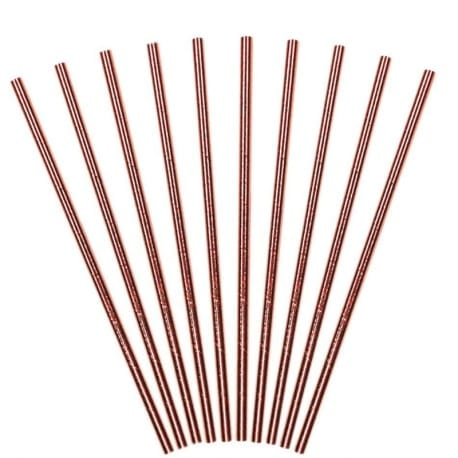 Cannucce In Carta Rose Gold – 10pz