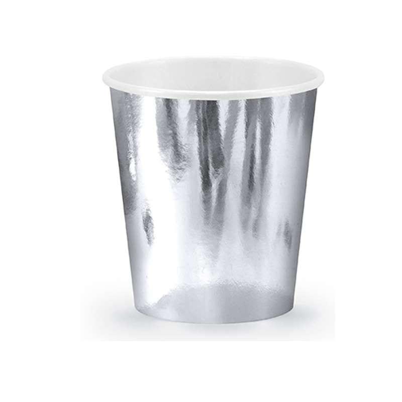 Bicchieri Argento Silver 180 Ml 6 Pz Kpp11-018