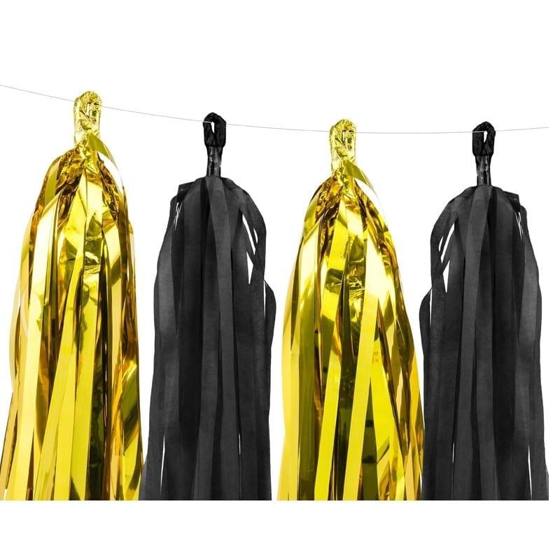 Festone 12 Nappine Oro/nero 30 Cm X 1,5 Mt – Tg2