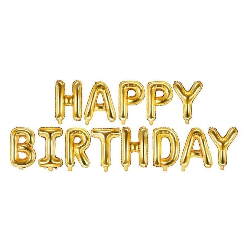 Foil Happy Birthday Oro 340 X 35 Cm – Fb6m-019