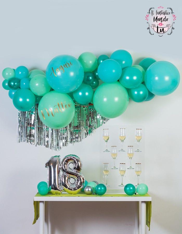Kit Evergreen Ghirlanda Di Palloncini Fai Da Te Verde 18 Anni