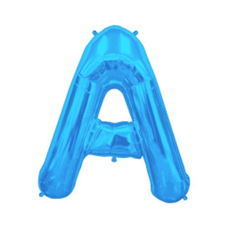 Lettere foil 40 cm blu da A-Z