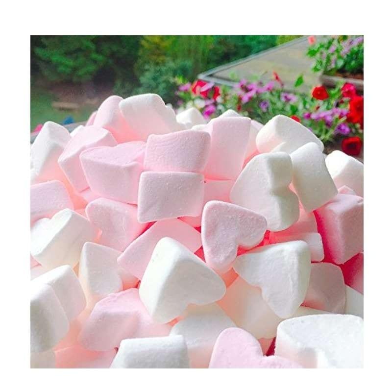 Marshmallow A Forma Di Cuore Rosa E Bianco Aroma Vaniglia 175 Gr – C145
