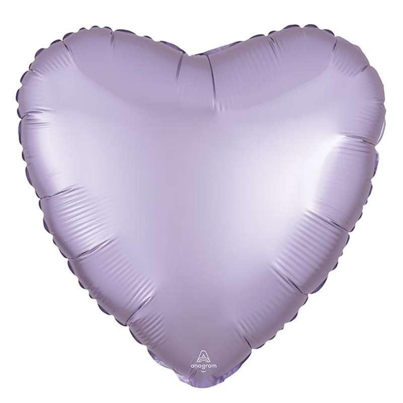 Palloncino Foil Satinato A Forma Di Cuore Luxe Pastel Lilla 43 Cm – 3990501