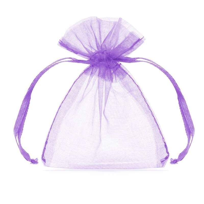 Sacchetti Per Confetti/caramelle In Organza Lilla 20 Pz – Wrg5-004