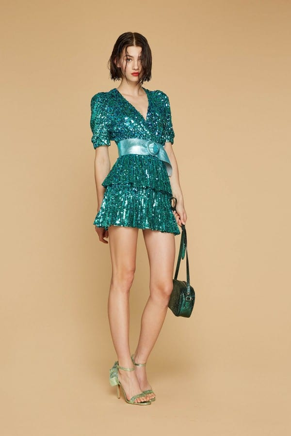 outfit verde 18 anni