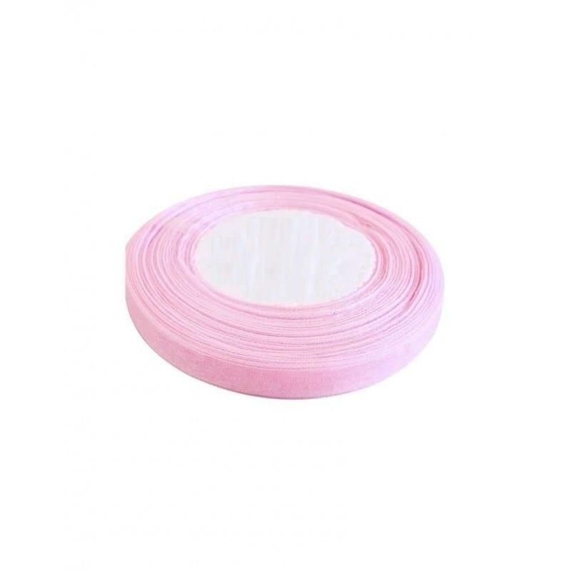 Rotolo Di Nastrino Colorato Rosa Di Raso 1 Cm