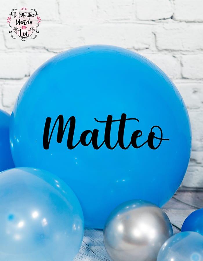 palloncino maxi con scritta personalizzabile per nascita, primo compleanno o battesimo