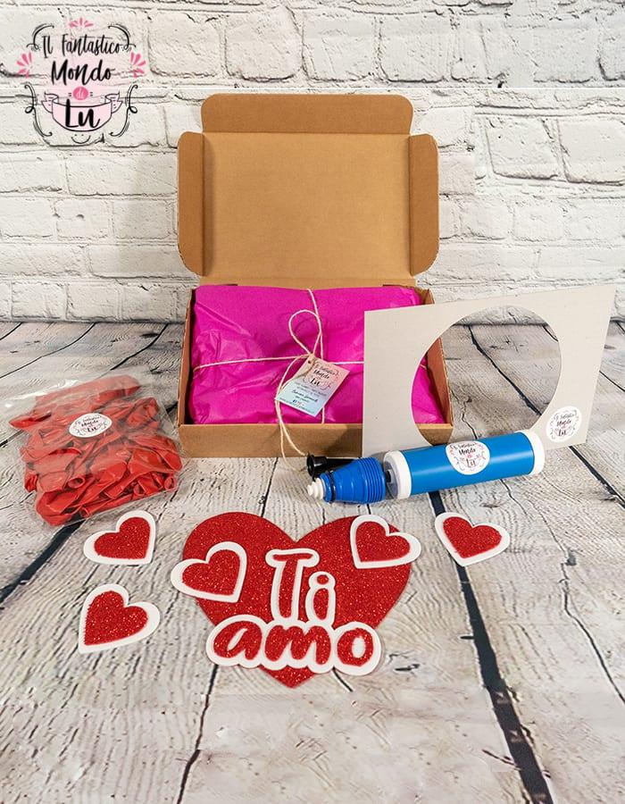 kit cuore con i palloncini per san valentino