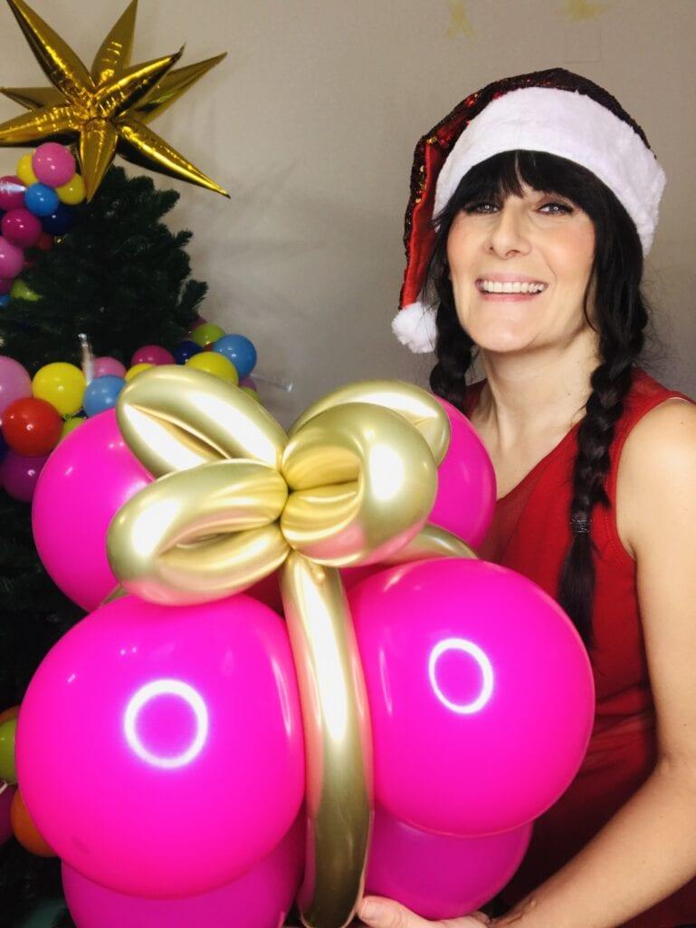 pacco regalo coi palloncini